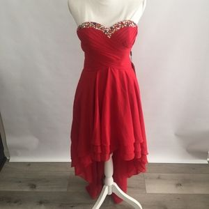JJ'sHouse Sweetheart asymmetrical evening dress